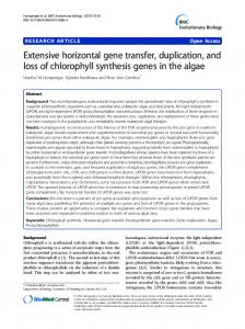 Extensive horizontal gene transfer, duplication ... - Semantic Scholar
