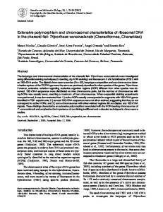Extensive polymorphism and chromosomal characteristics of ... - SciELO