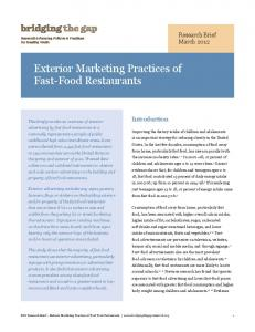 Exterior Marketing Practices of Fast-Food Restaurants