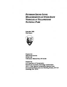 exterior sound level measurements of over-snow vehicles at ...