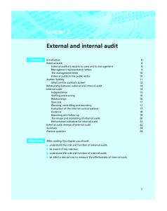 External and internal audit