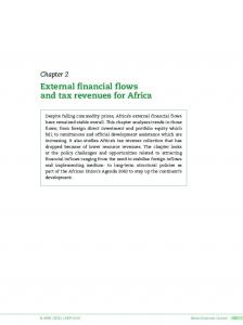 External financial flows and tax revenues for Africa