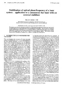 external stabilizer - OSA Publishing