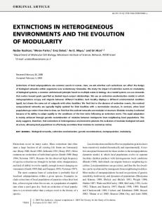 extinctions in heterogeneous environments and the ... - ScienceOpen