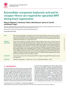 Extracellular component hyaluronic acid and its ...