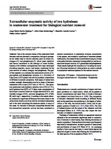 Extracellular enzymatic activity of two hydrolases in