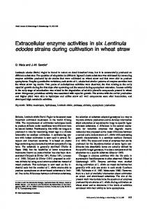 Extracellular enzyme activities in six Lentinula edodes ... - Springer Link