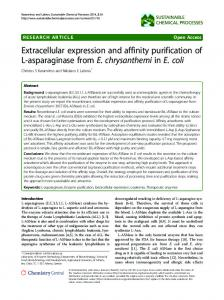 Extracellular expression and affinity purification of L-asparaginase ...