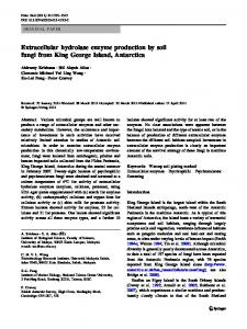 Extracellular hydrolase enzyme production by soil fungi from King ...