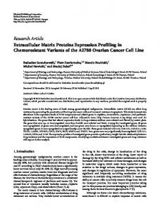 Extracellular Matrix Proteins Expression Profiling in Chemoresistant ...