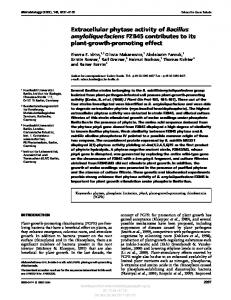 Extracellular phytase activity of Bacillus