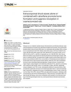 Extracorporeal shock waves alone or combined with raloxifene ... - Plos
