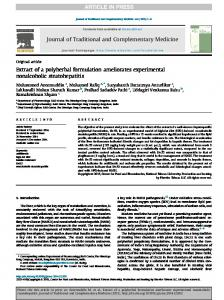Extract of a polyherbal formulation ameliorates