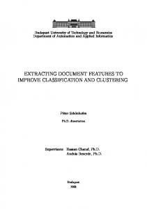 extracting document features to improve classification ...
