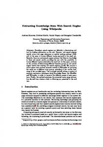 Extracting Knowledge from Web Search Engine Using ...