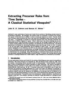 Extracting Precursor Rules from Time Series - A Classical ... - CiteSeerX