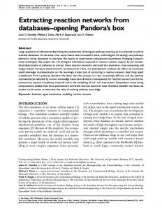 Extracting reaction networks from databases ... - Oxford Academic