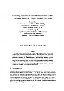 Extracting Stochastic Machines from Recurrent Neural Networks ...