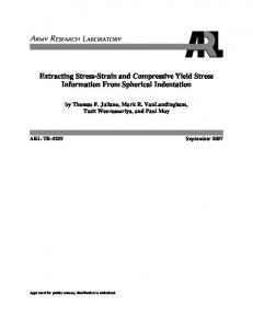 Extracting Stress-Strain and Compressive Yield Stress Information ...