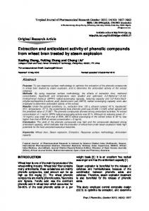 Extraction and antioxidant activity of phenolic compounds from wheat ...