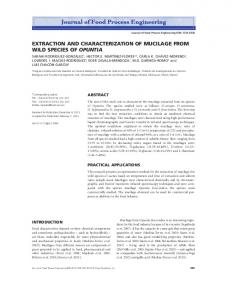 extraction and characterization of mucilage from wild