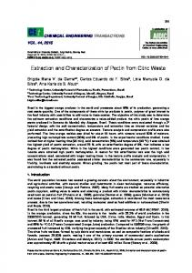 Extraction and Characterization of Pectin from Citric Waste - aidic