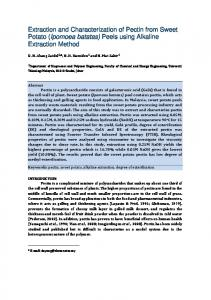 Extraction and Characterization of Pectin from Sweet ...