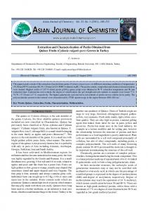 Extraction and Characterization of Pectin Obtained