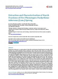 Extraction and Characterization of Starch Fractions of Five Phenotypes