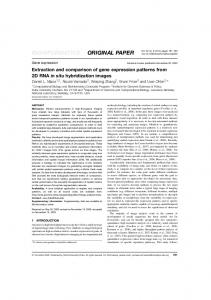 Extraction and comparison of gene expression ... - Oxford Academic