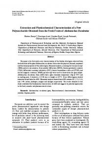 Extraction and Physicochemical Characterization ... - Semantic Scholar