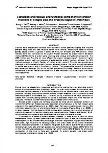 Extraction and residual antinutritional components in protein fractions ...
