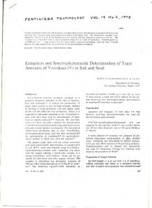 Extraction and Spectrophotometric Determination of ...