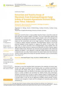 Extraction and Toxicity Assay of Mycotoxin from ...