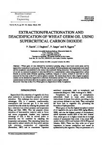 extraction/fractionation and deacidification of wheat germ oil ... - SciELO