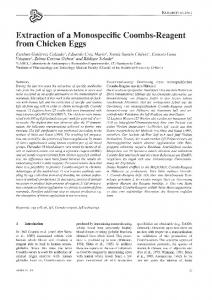 Extraction of a Monospecific Coombs-Reagent from Chicken ... - Altex