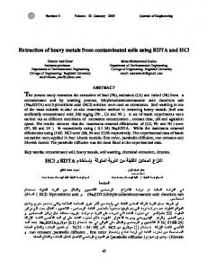 Extraction of heavy metals from contaminated soils using EDTA and