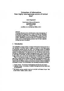 Extraction of informations from highly ... - Semantic Scholar