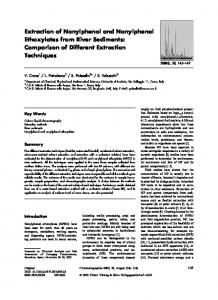 Extraction of Nonylphenol and Nonylphenol ... - Springer Link