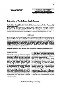 Extraction of Pectin From Apple Pomace - SciELO