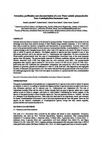 Extraction, purification and characterization of a ... - Semantic Scholar