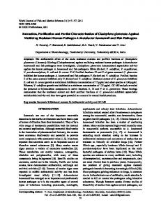 Extraction, Purification and Partial Characterization of ... - IDOSI