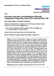 Extraction, Separation, and Identification of Phenolic Compounds - MDPI