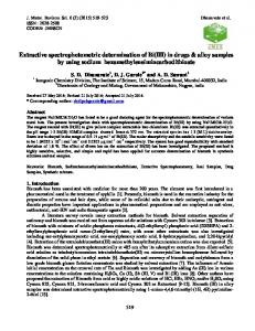 Extractive Spectrophotometric Determination of Bi(III) with ...