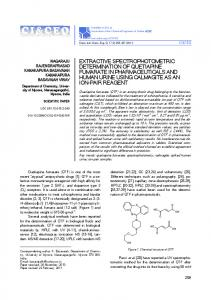 extractive spectrophotometric determination of quetiapine fumarate in ...