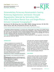 Extramedullary Pulmonary Hematopoiesis ... - KoreaMed Synapse