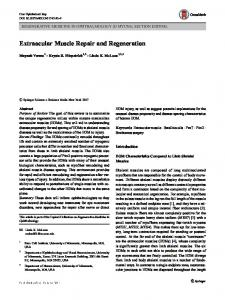 Extraocular Muscle Repair and Regeneration