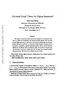 Extremal Graph Theory for Degree Sequences