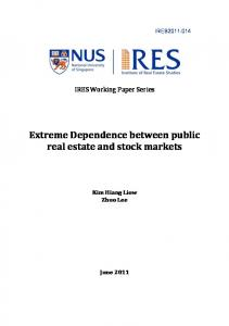 Extreme Dependence between public real estate and stock markets