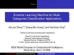 Extreme Learning Machine for Multi-Categories ... - CiteSeerX